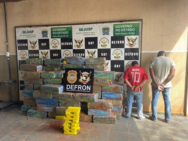 Carioca e douradense são presos com carregamento de drogas que seria levada para o RJ