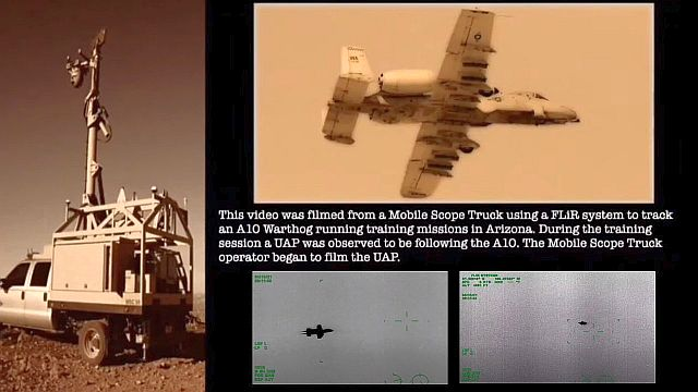 DHS footage shows UFO buzzes A10 warthog nearby Davis Monthan AFB  Ufo%2Buap%2Bflir%2Bcamera