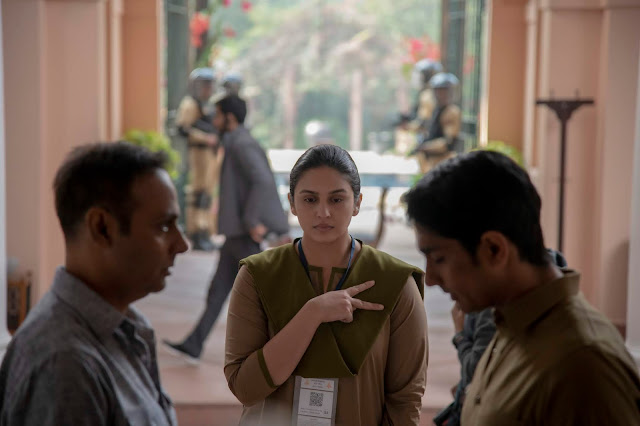 "Cena da minissérie ""Leila"". Na cena Huma Qureshi. Créditos: Aditya Kapoor/Netflix"