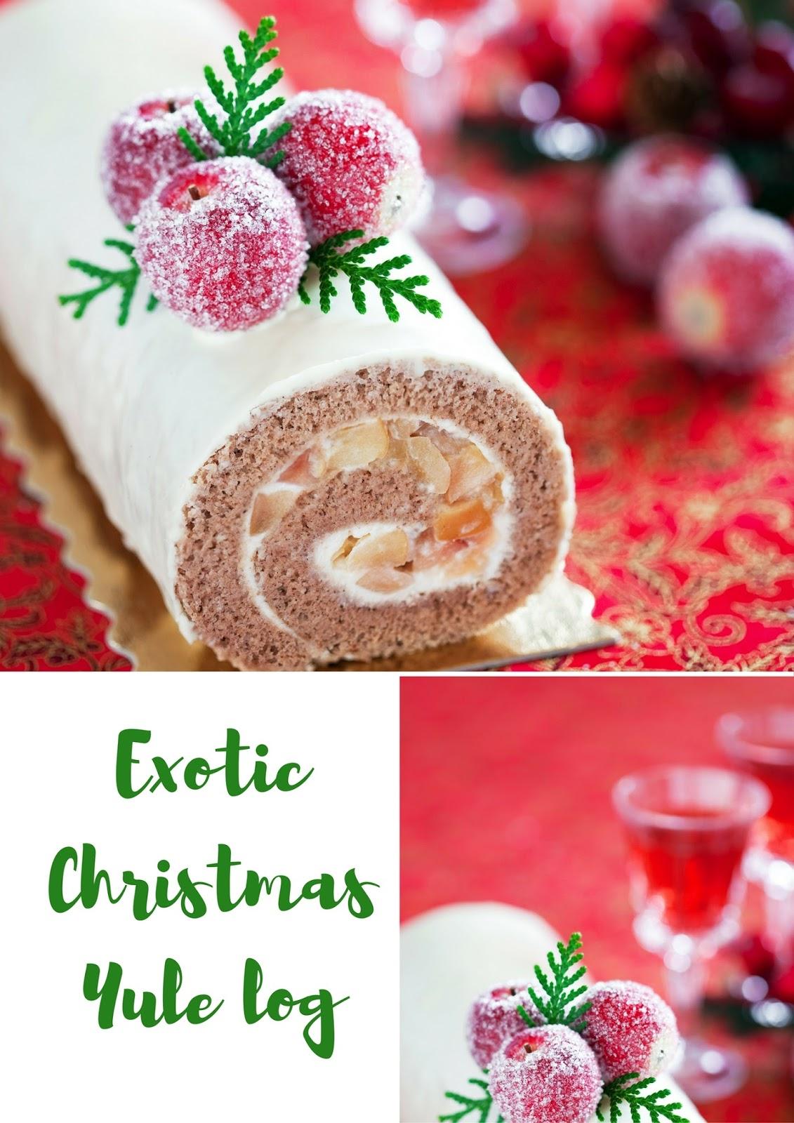 Exotic Christmas Yule Log