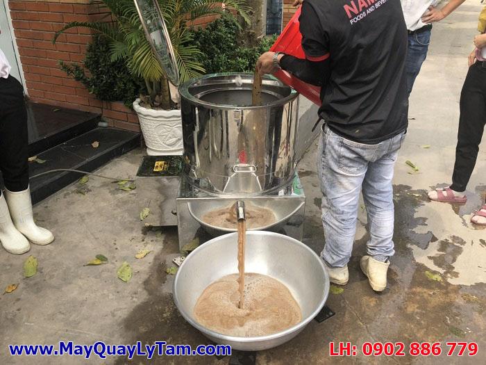 Máy vắt ly tâm nước nhàu, nước me, chanh dây... máy ly tâm dạng rỗ bằng inox hiệu quả cao