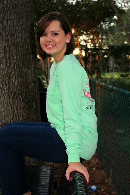 long sleeve mint simply southern shirt