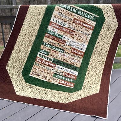 cabin quilt panel
