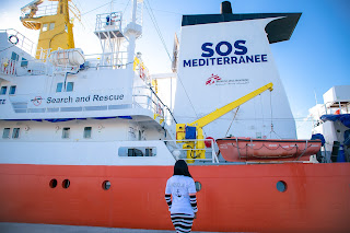 Stephanie Linus visits rescue ship 'Aquarius' in Italy as She advocates against Human Trafficking 1