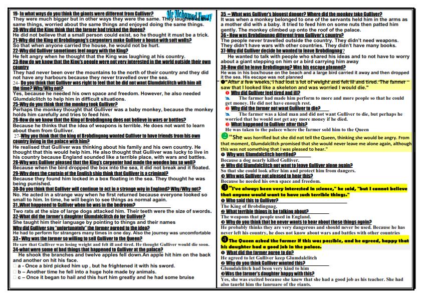 مراجعة ليلة الامتحان لغة انجليزية تانية ثانوى ترم ثاني 8 ورقات مجابة مستر محمد فوزي Answered_007