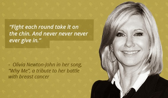 Olivia newton-johns fight with breast cancer