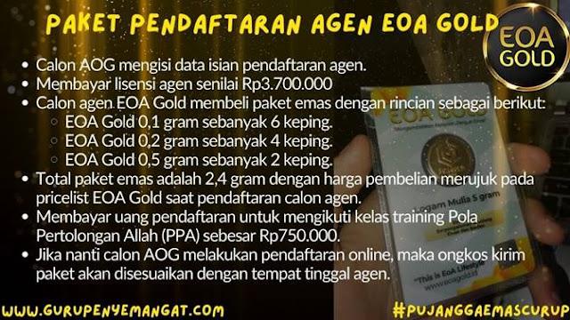 detail syarat untuk mendaftarkan diri menjadi Agen EOA Gold