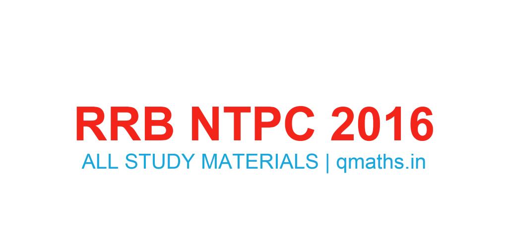 Rrb Exam Study Material Pdf