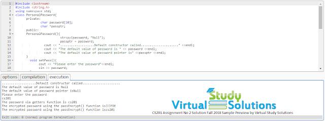 cs201 assignment no 2 solution code online c++ compiler preview