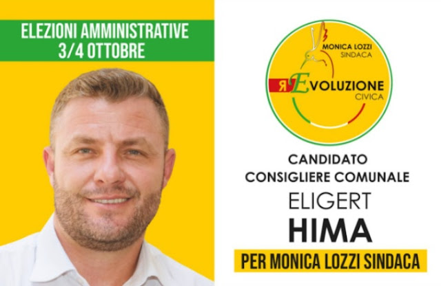 Il 35enne albanese Eligert Hima che si candida al consiglio comunale di Roma