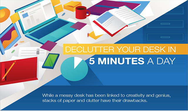 Declutter your desk in 5 minutes a day