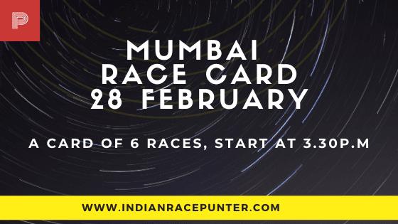 Mumbai Race Card 28 February