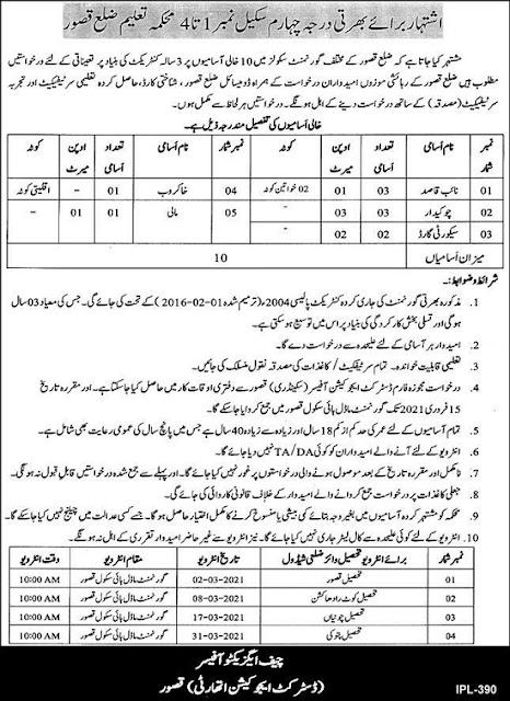 education-department-kasur-jobs-2021-district-education-authority-dea