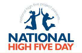 National High Five Day Wishes Pics