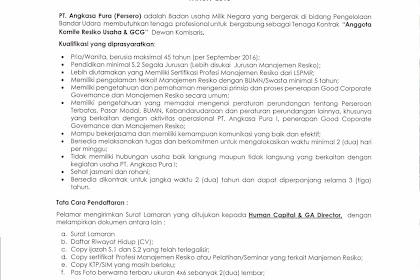 Karir PT. Angkasa Pura I (Persero), Pendaftaran Hingga 29 Agustus 2016