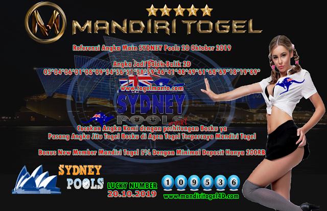 Prediksi Lucky Number Togel Sydney Mandiri Togel 20 Oktober 2019