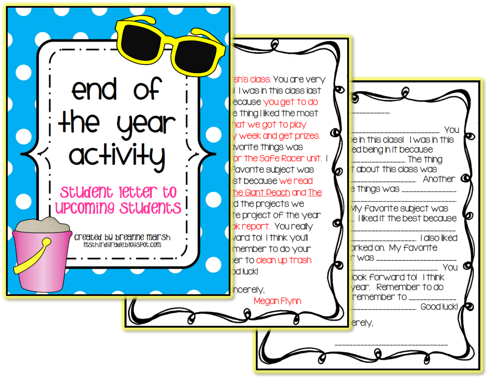 Ms Third Grade End Of The Year Freebie And May Currently