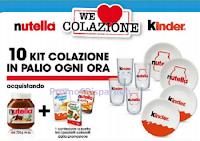 Logo Concorso Kinder e Nutella #WeLoveColazione: ogni ora vinci 10 Kit colazione