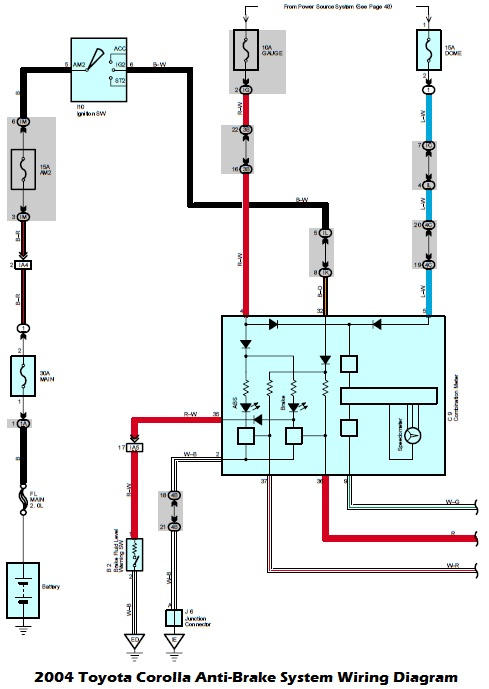 1999 toyota 4runner fuel pump wiring diagram alternator external regulator diagrams - 2004 corolla anti-brake system
