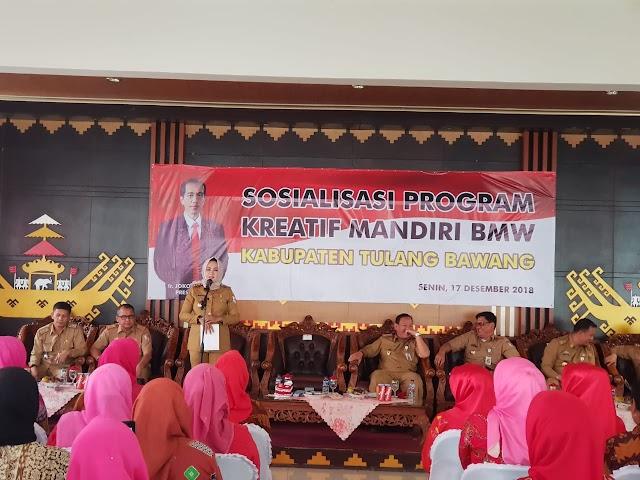 Launching Program Kreatif Mandiri BMW Bupati Minta Inspektorat Awasi Pelaksanannya