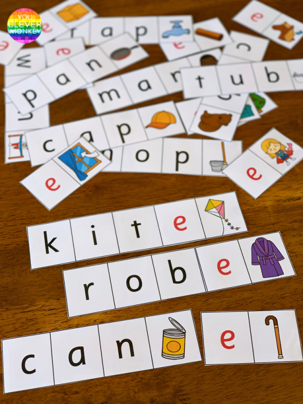 CVC to CVCe Word Cards | you clever monkey