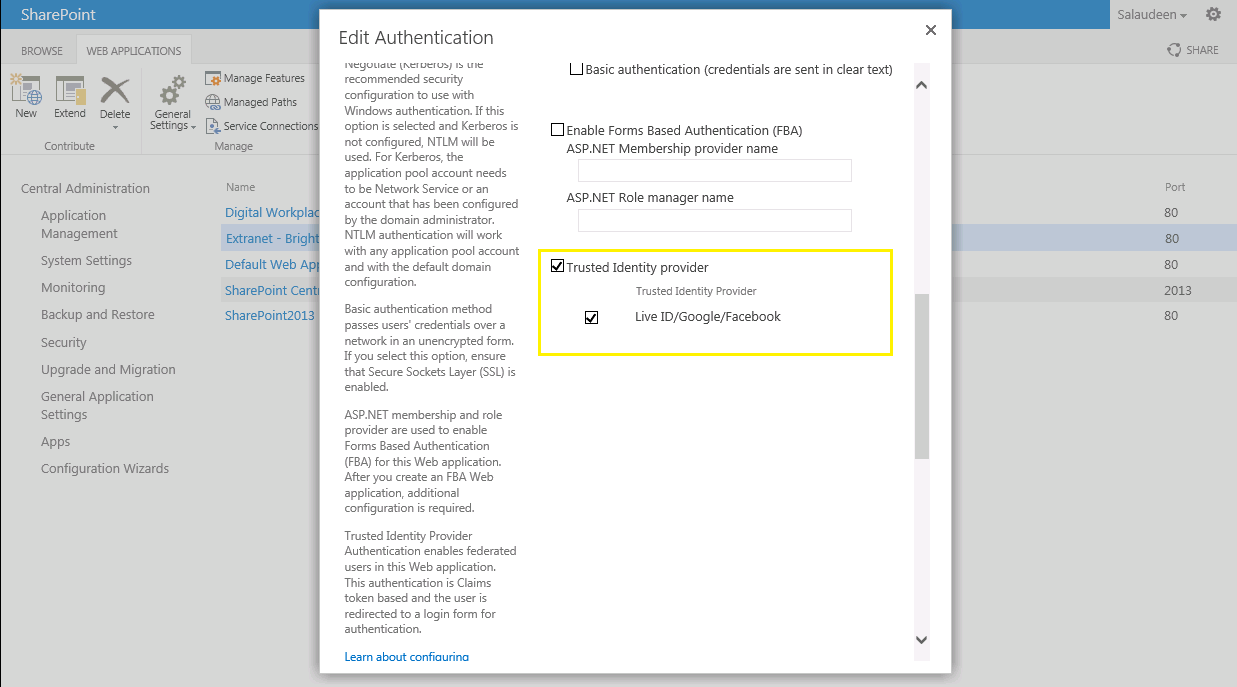 Integrating Windows Live ID, Google and Facebook