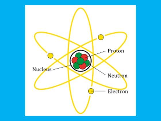 bagian-bagian atom : neutron, proton dan elektron