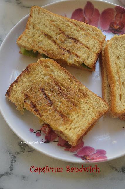 Tri Colour Capsicum Sandwich  Recipe | Capsicum Sandswich |Bell Pepper Sandwich