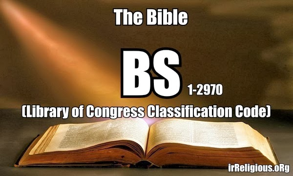 Funny Bible Meme Picture - Library of Congress Classification Code BS 1-2970