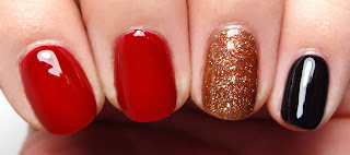 Red, Black, and Copper Nails