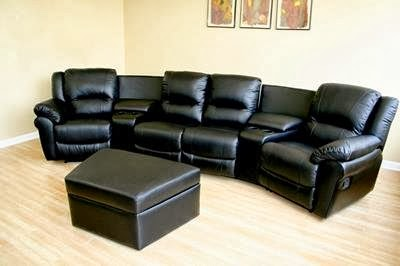 Curved Reclining Sofa