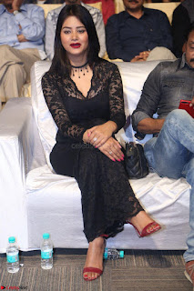 Actress Monica in spicy transparent Black Top at O Pilla Nee Valla Movie Audio Launch Feb 2017 003.JPG