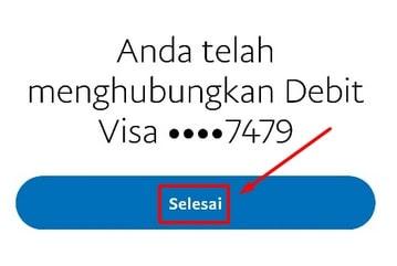 Notifikasi Penambahan Kartu Kredit Paypal