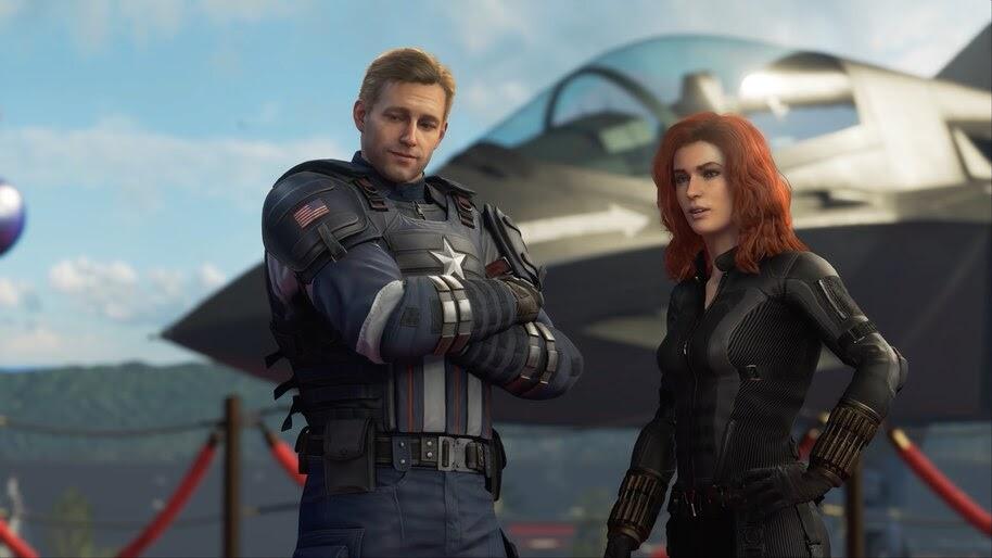 Marvel S Avengers Captain America Black Widow 4k Wallpaper