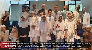 peringati maulid, FPRN santuni anak yatim