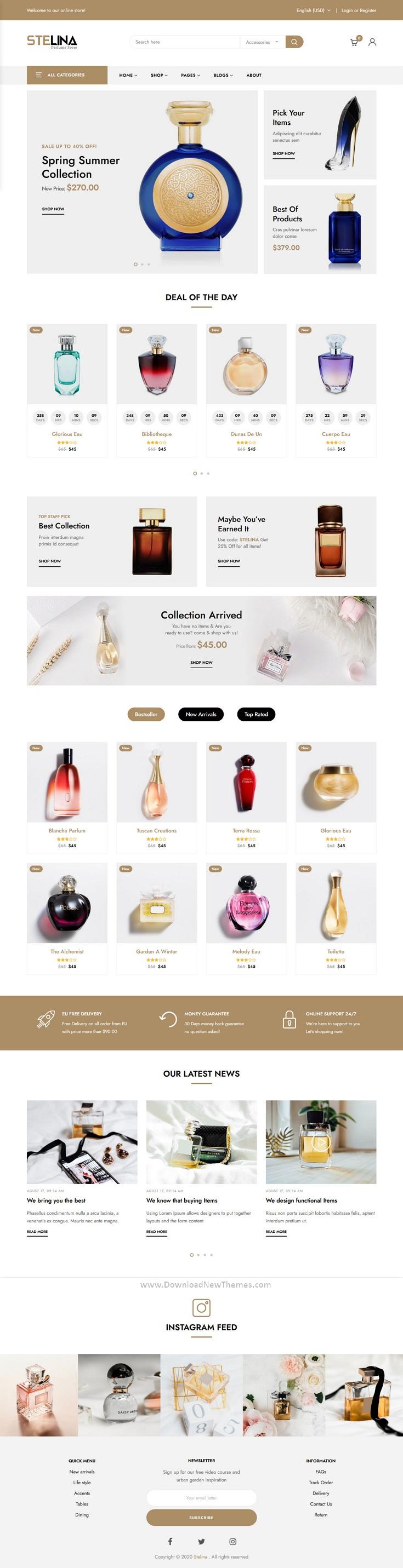 Perfume Store HTML Template