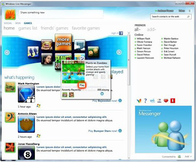 Windows Live Messenger entretenimiento