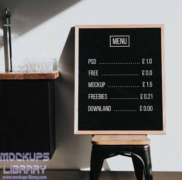 menu board mockup