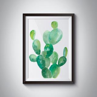 ramka z kaktusami