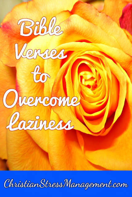 Bible verses to overcome laziness