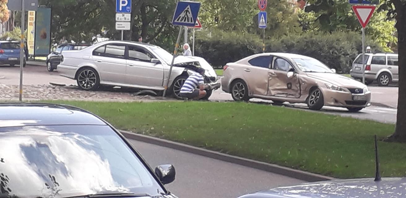 Divu auto avārija Daugavpilī
