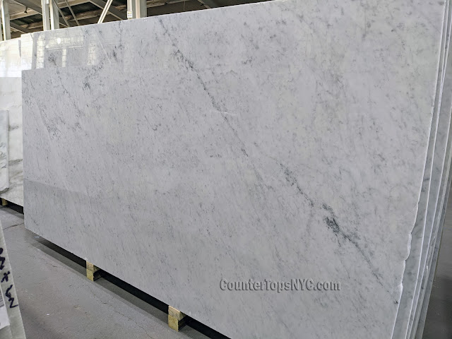 Carrara White Marble Slabs NYC