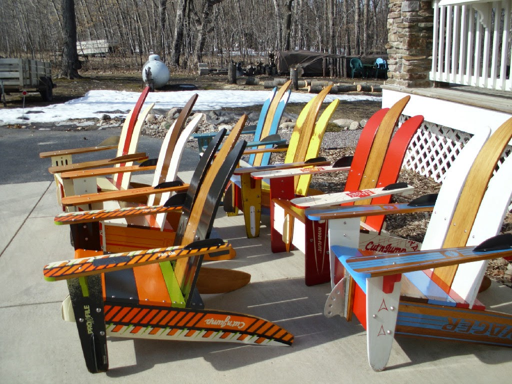 Wood Water Ski Adirondack Chair