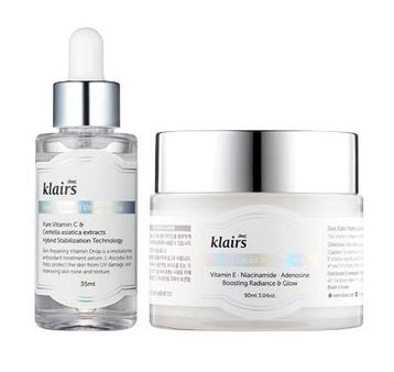 KLAIRS Freshly Juiced Vitamin E Mask + Freshly Juiced Vitamin Drop