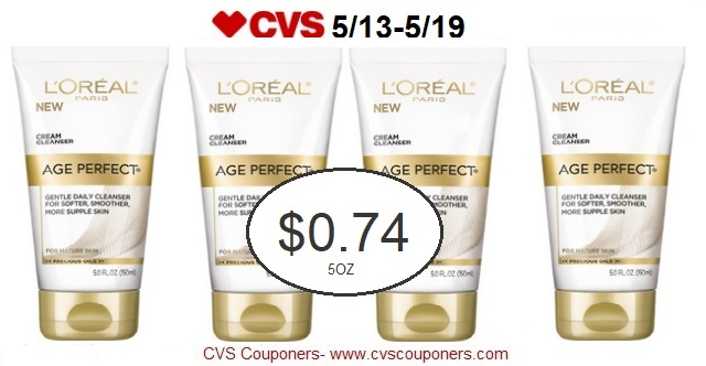 http://www.cvscouponers.com/2018/05/loreal-age-perfect-cleanser-only-074-at.html