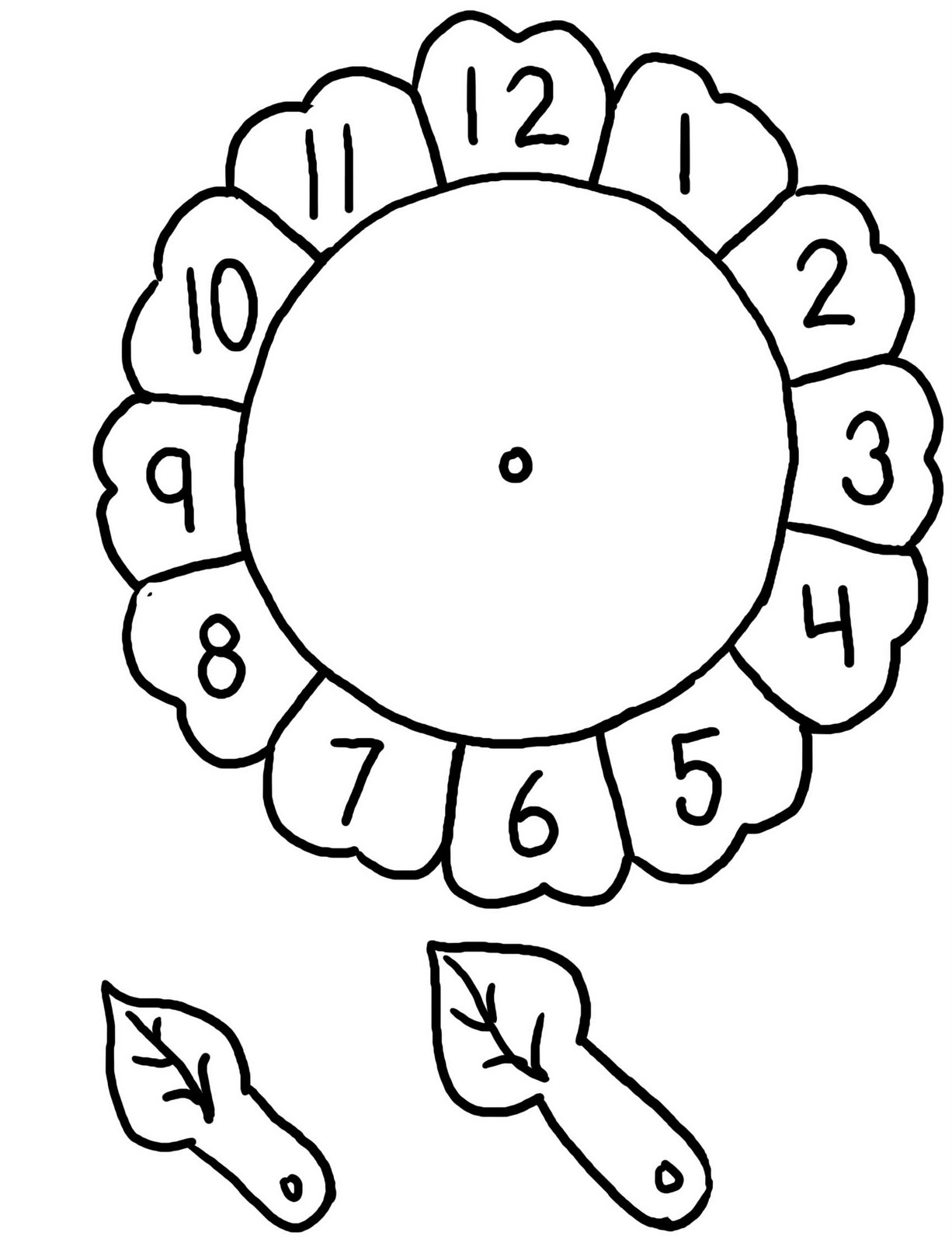 Fichas De Ingles Para Ninos Flower Clock For Children