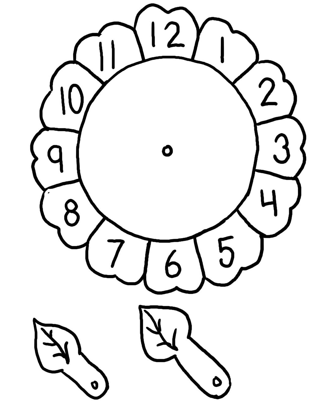 Fichas De Ingles Para Ninos Flower Clock For Children