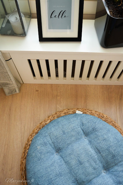 olohuone sisustus rahi rottinki kevät Ikea Alseda rahi