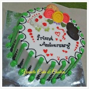 Kue Ultah Bulat Friend Anniversary