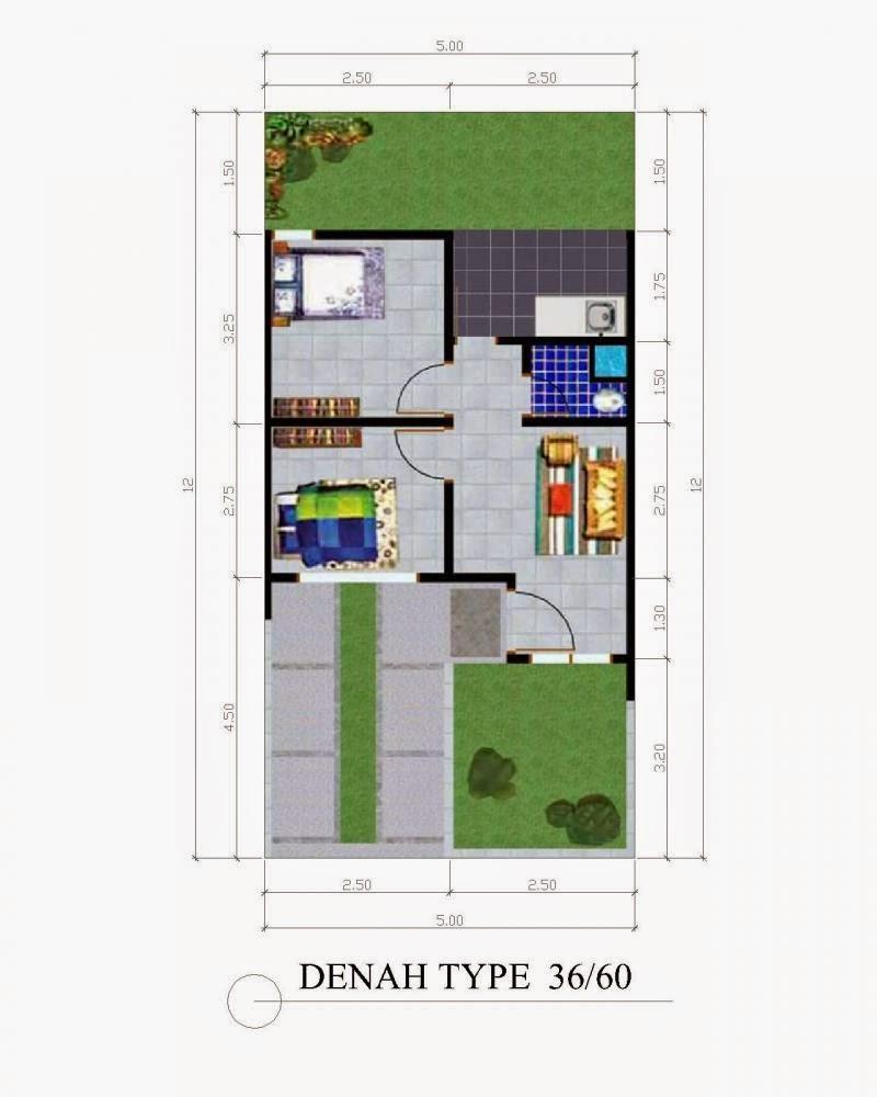 Gambar Denah Interior Rumah Minimalis Type 36/84 | Rumahmen